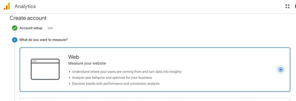 Selecting the source in Google Analytics