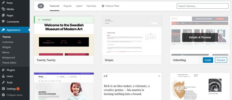 Themes-in-WordPress