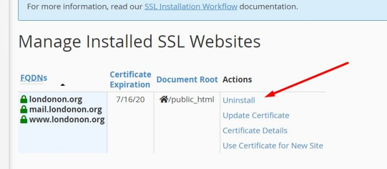Uninstalling-Default-SSL