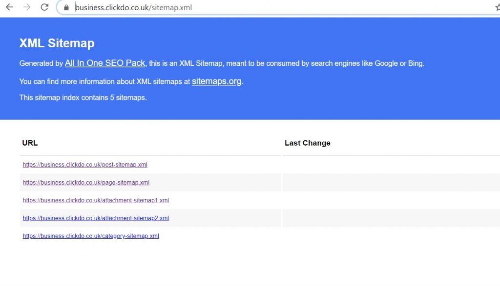 XML Sitemap of UK Business Blog
