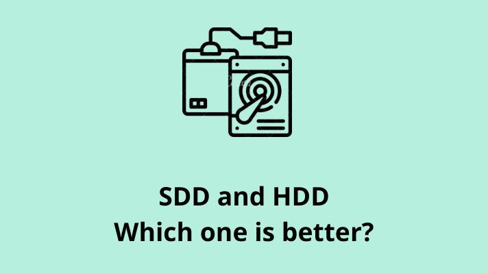 SSD an HDD