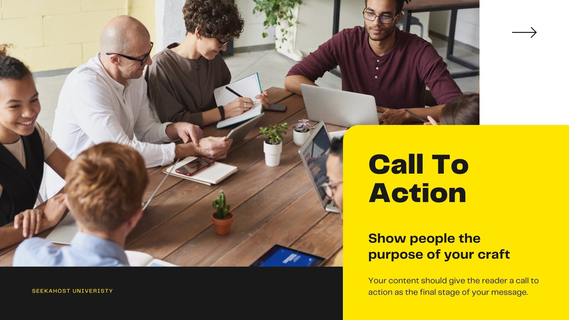 call to action in content