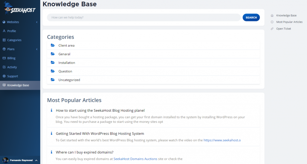 wp-hosting-control-panel-knowledgebase