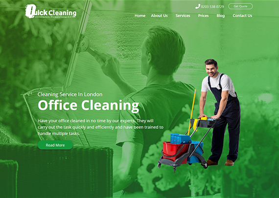 Quick-Cleaning-Services-website-Post-Vs-Page-in-WordPress