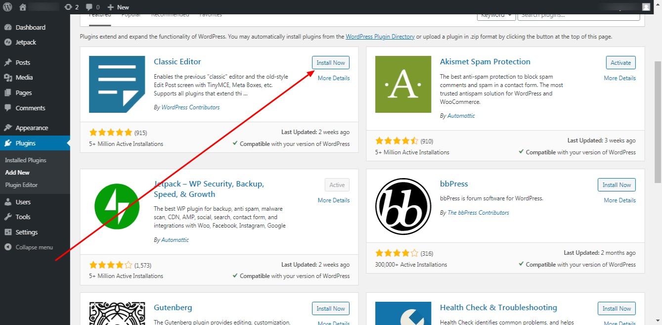 WordPress-Classic-Editor
