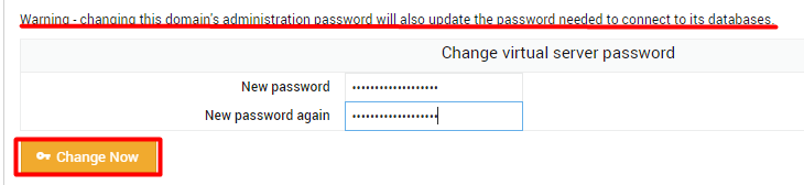 Changing Password of your domain