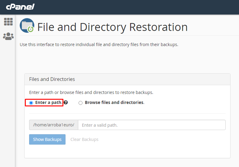 Select File & directory restoration