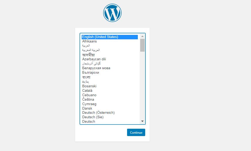 Language available on webmine