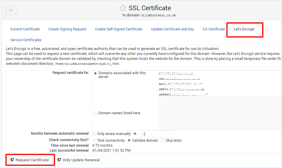 Select encrypt option