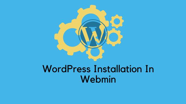 Install WordPress in Webmin