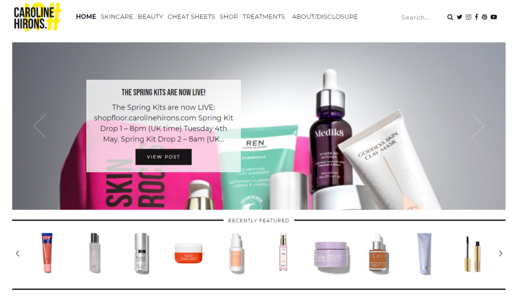 Caroline-Hirons-beauty-blog-with-product-and-treatment-reviews-and-recommendations