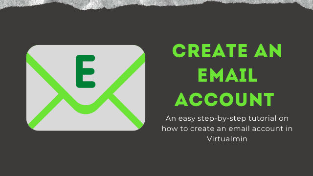 Create email account In Virtualmin