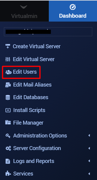 Edit Users - Email account