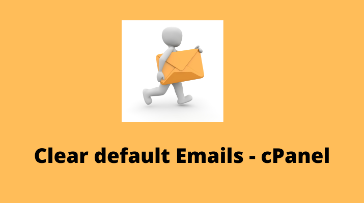 steps to clear the default email storage