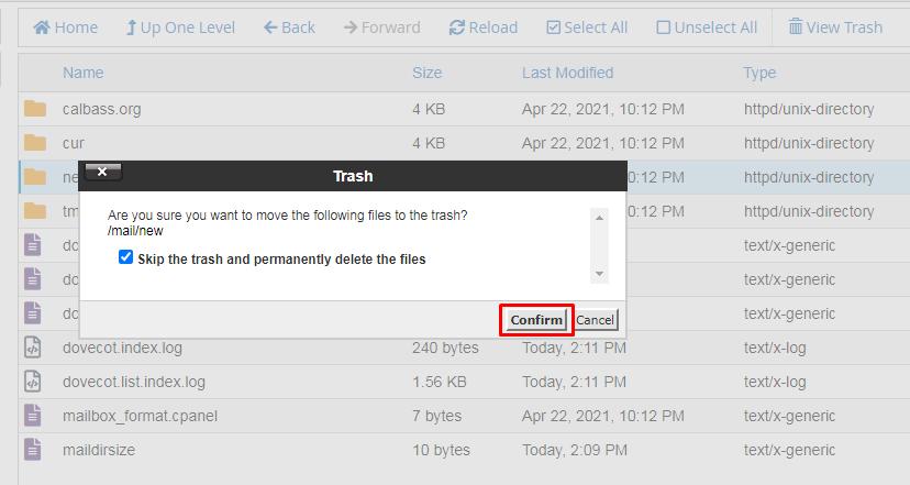 Delete new folder