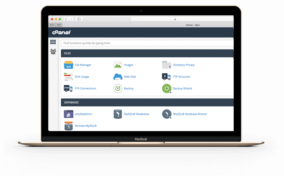 cPanel-control-panel-user-interface