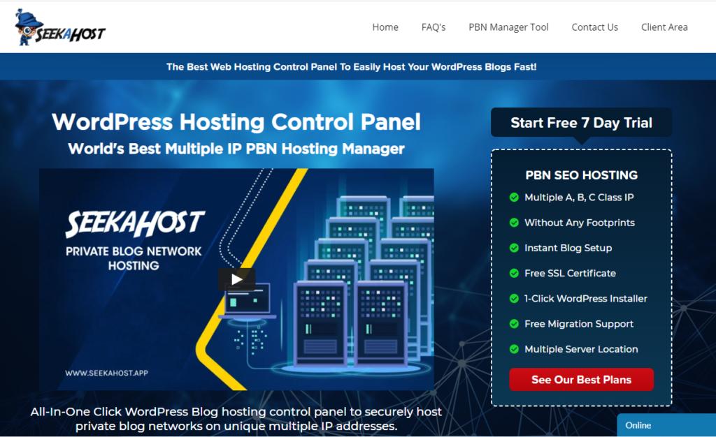 SeekaPanel-WordPress-PBN-Hosting-Control-Panel