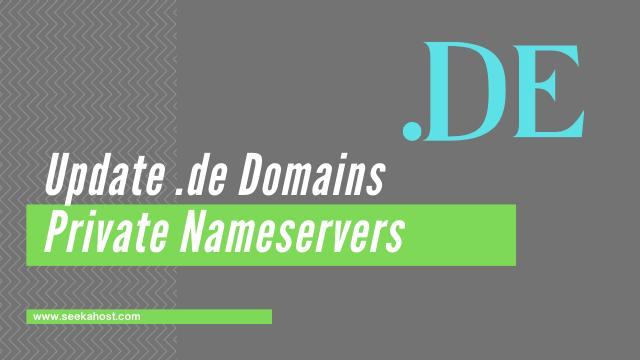 Update .de domains private nameservers