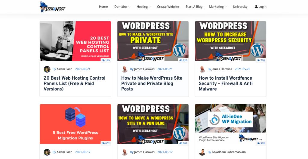 Clutter-free website Design