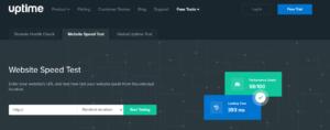 Uptime Website Speed Test Tool