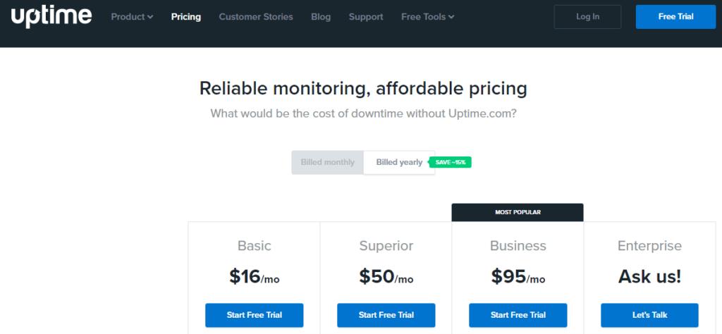 Uptime tool pricing
