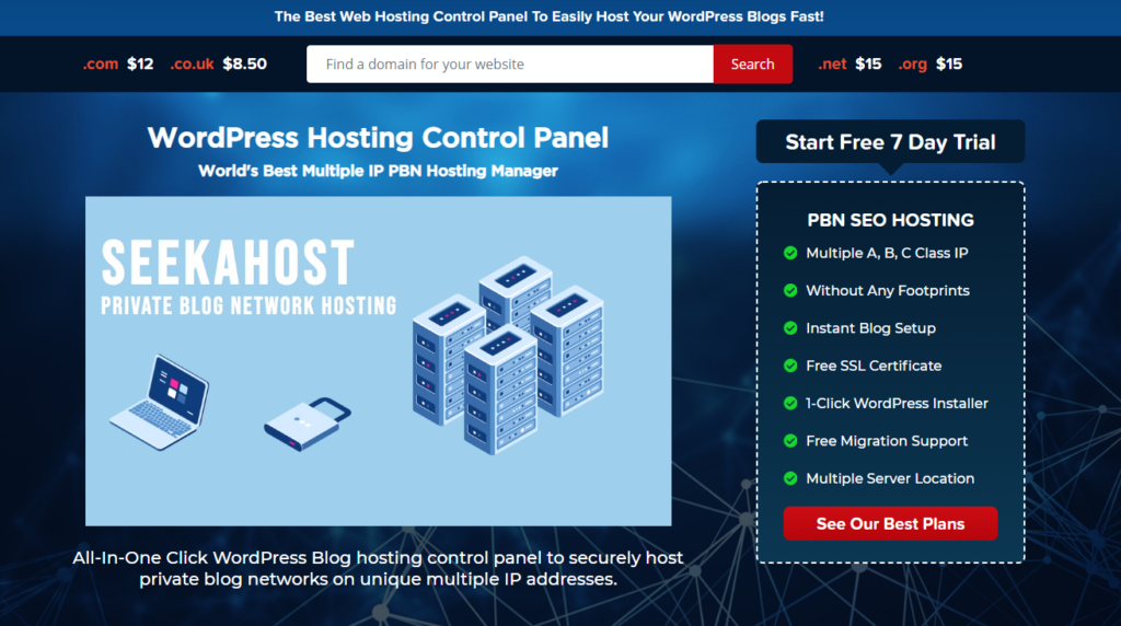 register a domain with seekahost