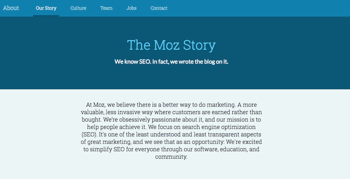 About Us Page in WordPress