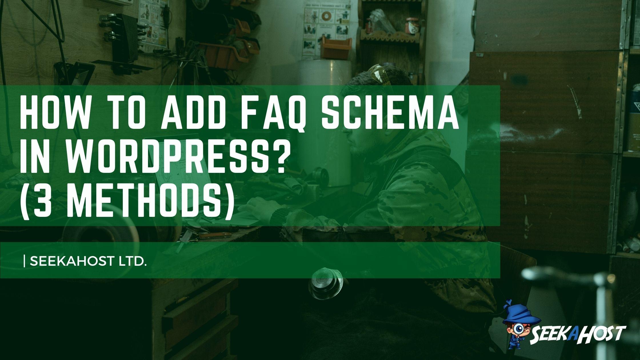 Add FAQ Schema in WordPress