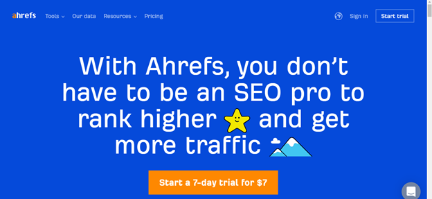 ahrefs-seo-platform-and-app-for-bloggers