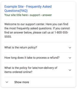 FAQ Schema in Mobile View
