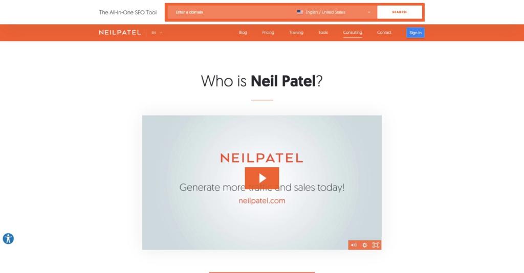 Neil Patel About Me Page