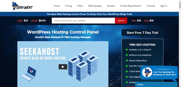 SeekaPanel-web-hosting-panel-in-app-for-bloggers