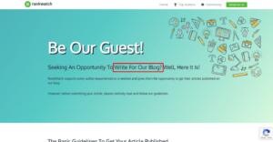 WordPress Page - Write For Us