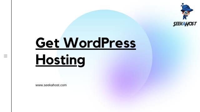 Get WordPress Hosting