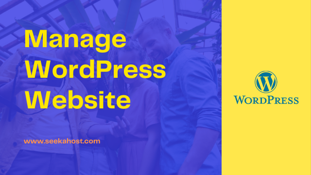 how to manage WordPress website