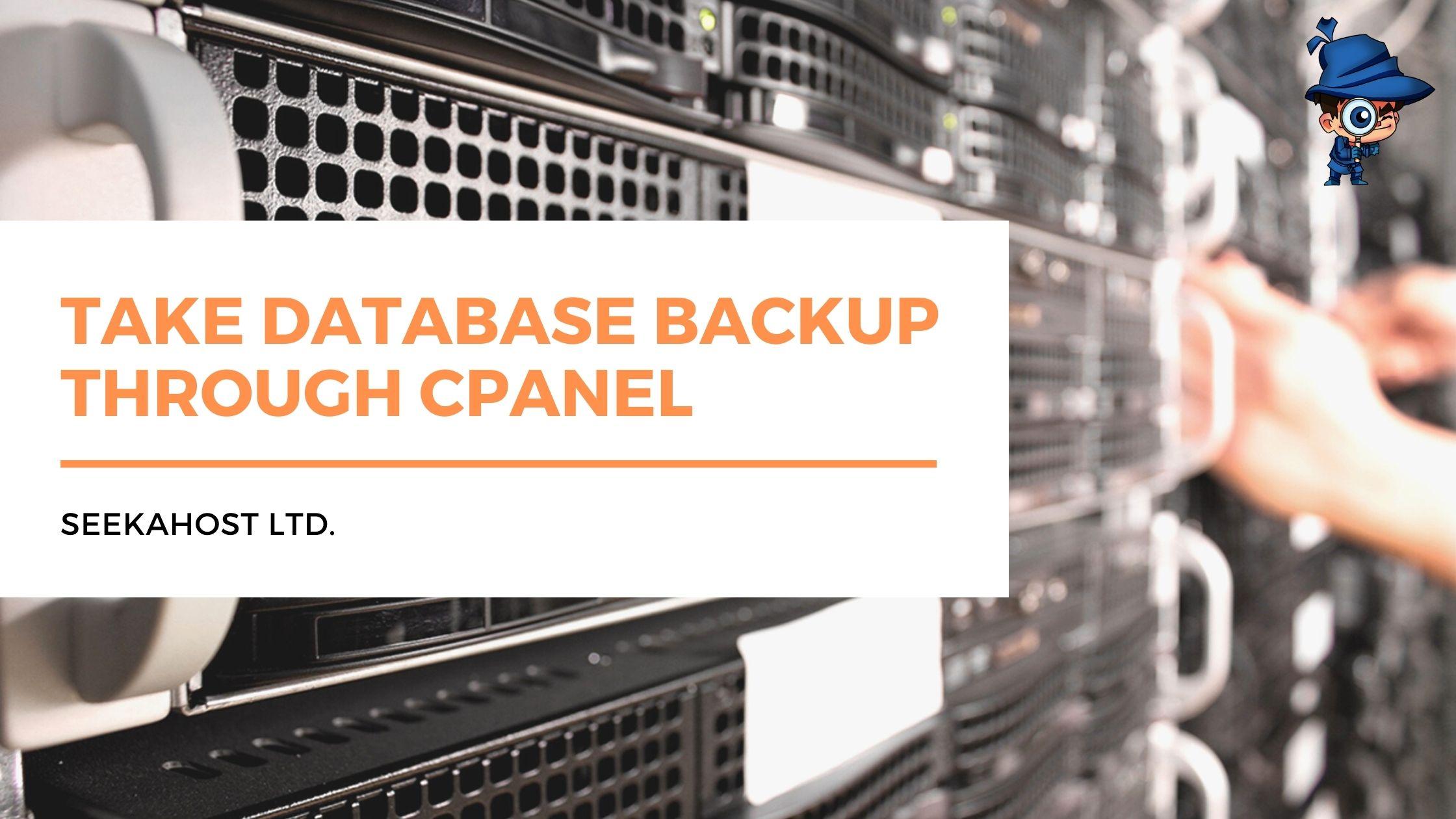 Take Database BackUp