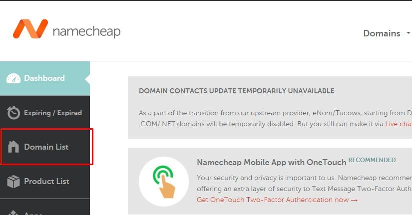 domain list namecheap