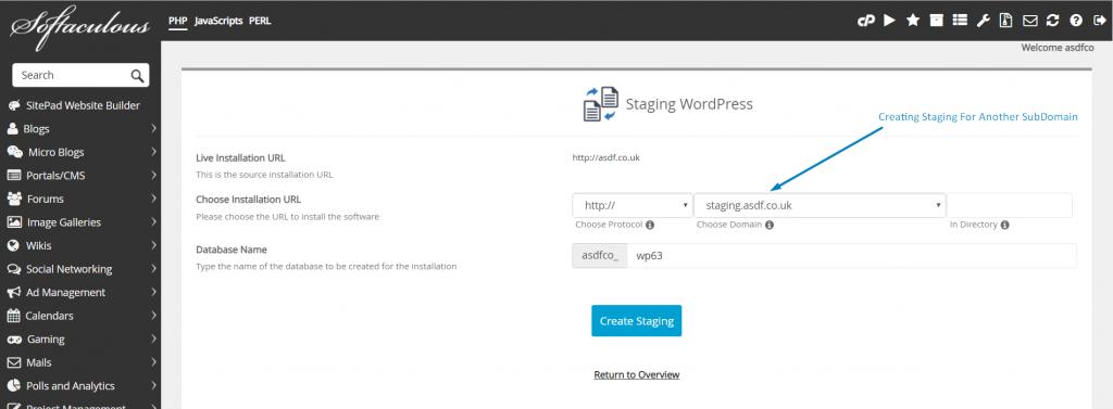 Staging WordPress Website in cPanel