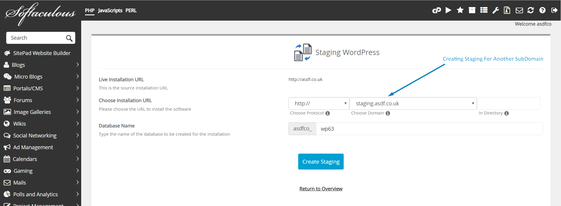 How to Create Staging Using Softaculous in cPanel? | SeekaHost