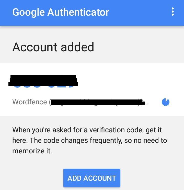 Google authentication code